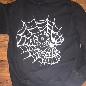 swallows and daggers hoodie 8 ball spider